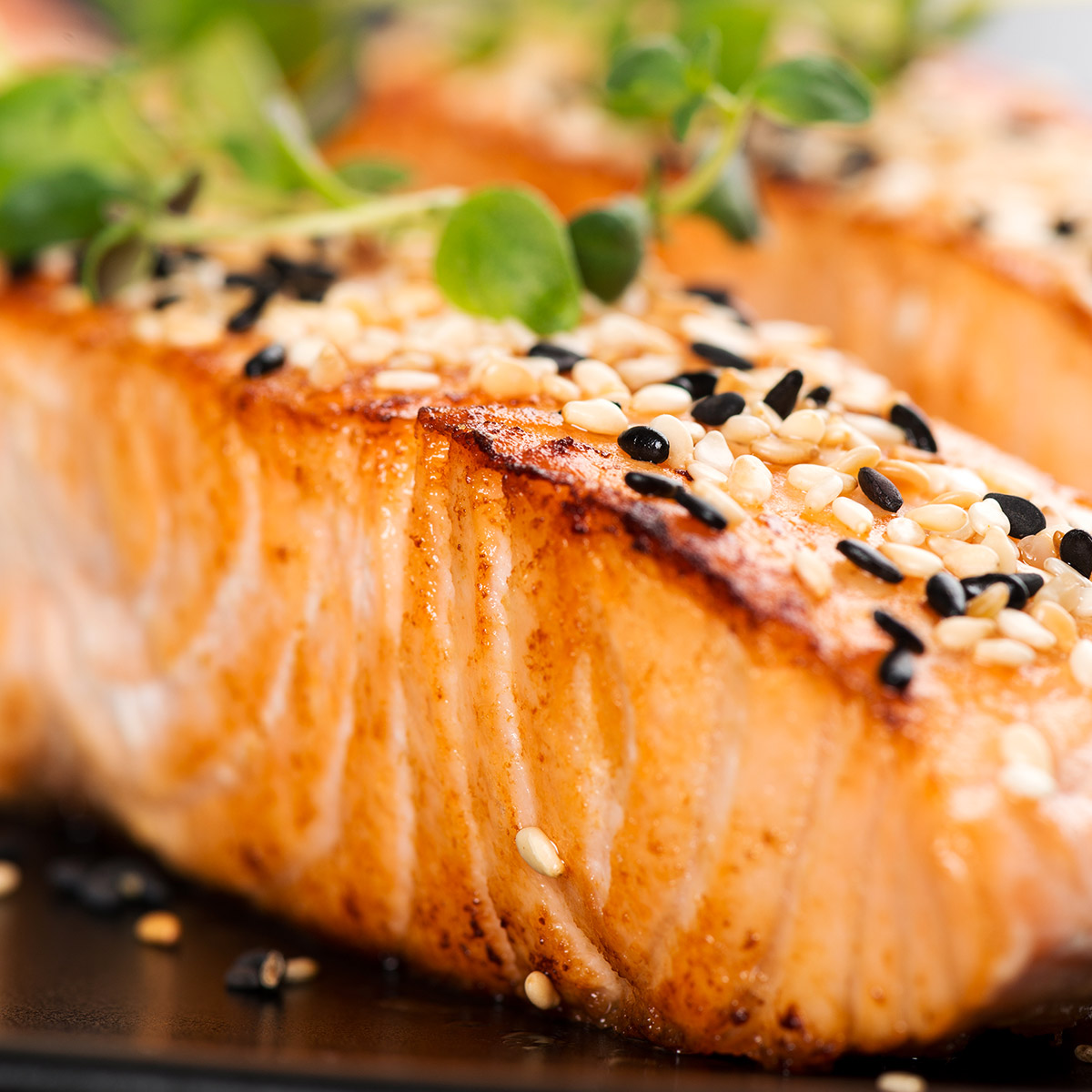 Rosé Food suggestion - Seared Salmon