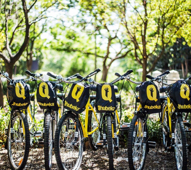 NEDERBURG HELPS 70 HOUSEHOLD VEGETABLE GARDENERS GET TO MARKET WITH QHUBEKA BICYCLES